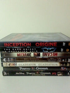 Inception, Pirates of the Caribbean DVDs