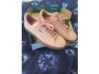 NEW Puma Pink Suede Platforms Cameo Brown Silver Gum UK7 EUR40