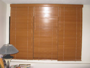 60↓ X 76→ MAPLE BLINDS (2)