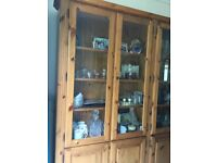 Lovely Ducal Pine Wall Unit - Excellent Condition, with Lighting