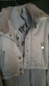 Chanel jacket with fur collar gently  used.