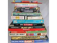 BUMPER COLLECTION of vintage board games & puzzles