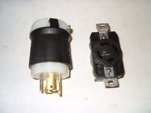 125/250V 30A plug and receptacle for generator