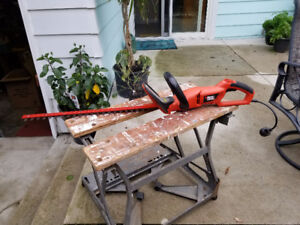 Electric Dual Steel Blade Hedge Trimmer
