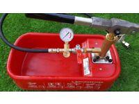 Rothenberger pressure testing pump. Underfloor heating pump