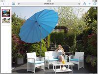 White rattan garden furniture