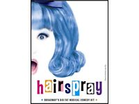 4 SECOND ROW Hairspray the Musical tickets Sunderland Empire