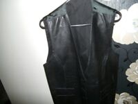 Mans Leather Waistcoat