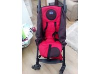 chicco liteway pushchair with see through rain cover