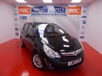Vauxhall Corsa SE(HALF LEATHER AND GREAT SPEC) FREE MOT'S AS LONG AS YOU OWN THE CAR!!! (black) 2013