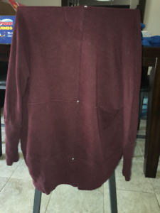 Wilfred Maroon Cardigan