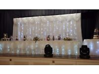 Beautiful starlight backdrop curtain