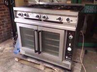 CATERING 6 BURNER CONVECTION COMMERCIAL FAN OVEN MACHINE COOKER DINER CAFE KITCHEN SHOP RESTAURANT
