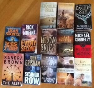 fiction & nonfiction $5 each or 3/$10.  Sample of titles include