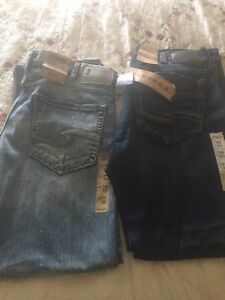 Brand new men's silver jeans