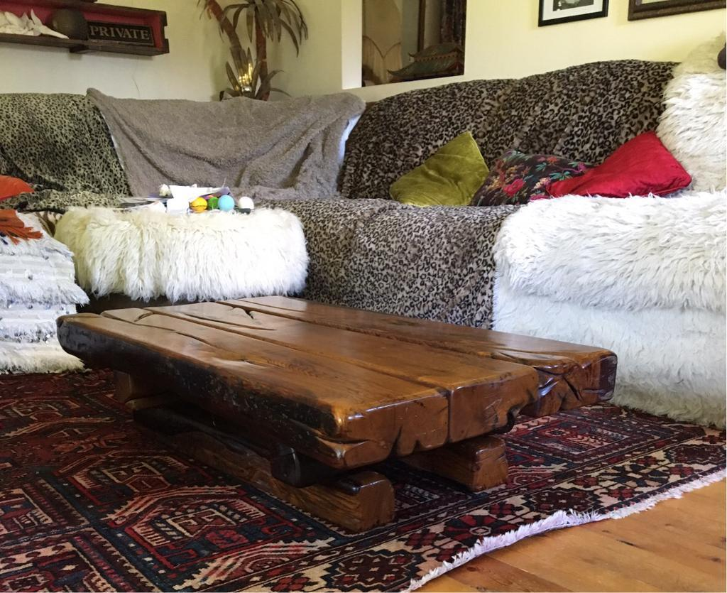 Jarabosky old french oak railway sleeper coffee table in jarabosky old french oak railway sleeper coffee table geotapseo Gallery