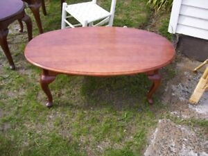 Solid wooden Coffee Table & one matching Lamp Table
