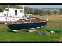 Silloutte sailing boat
