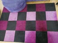 Bordeaux Black / Purple-Pink Rug 160cm x 230cm