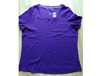 ladies purple top/tshirt purple size XL brand new Bon Marche