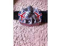 Bulldog Spirit buckle and belt, 28-32 waist belt-Original