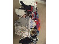Large bundle of boys clothes 9-12 months