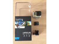 GoPro Hero 4 Black Edition c/w 2 batteries