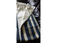 top quality V expensive fully lined heavy CURTAINS each curtain 76 inches wide x 83 long approx