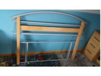 Double headboard. Solid wood and metal. Good condition