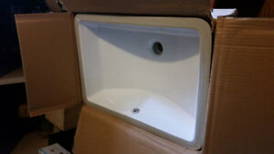 Brand New Undermount Bath Sink	 Still in the box.White 20 3/4 x1