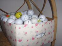 100 x Golf balls (used) - collect Horsham