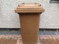 Garden waste brown bin