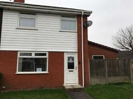 Three bedroom house to rent with garage & drive in Runcorn Sutton park, Clovelly Grove Cheshire
