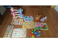 selection of wooden toys for preschoolers