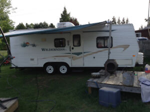 Wilderness travel trailer.