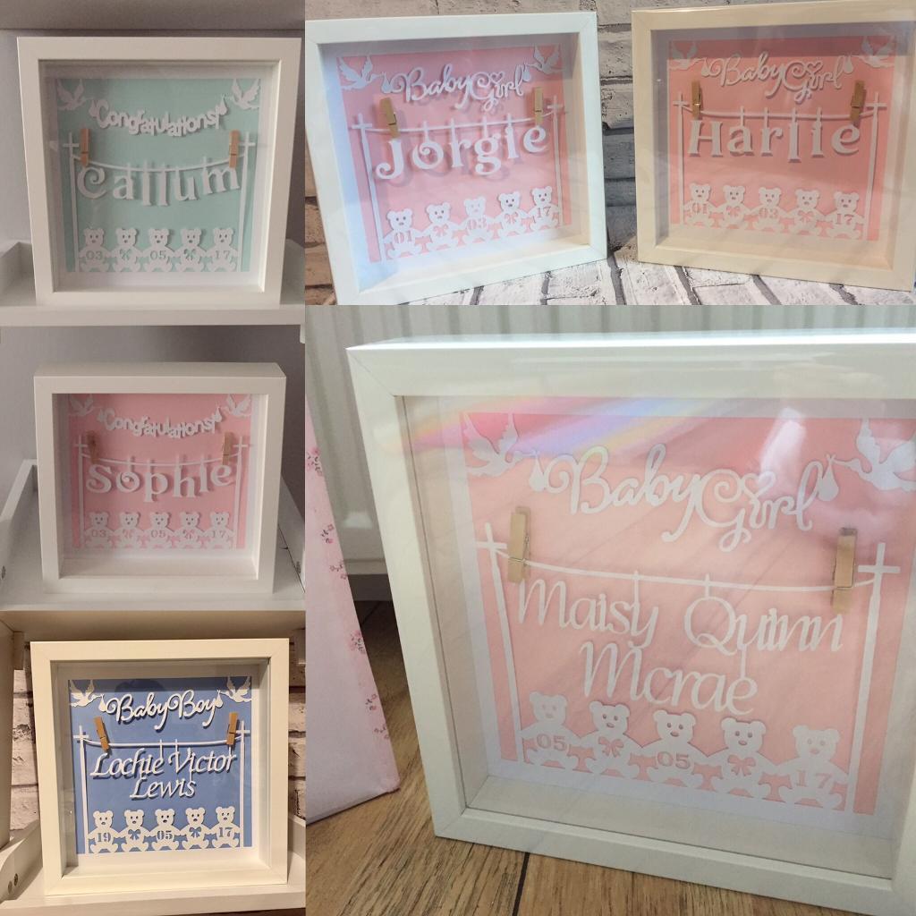 personalised baby frames in portlethen aberdeen gumtree