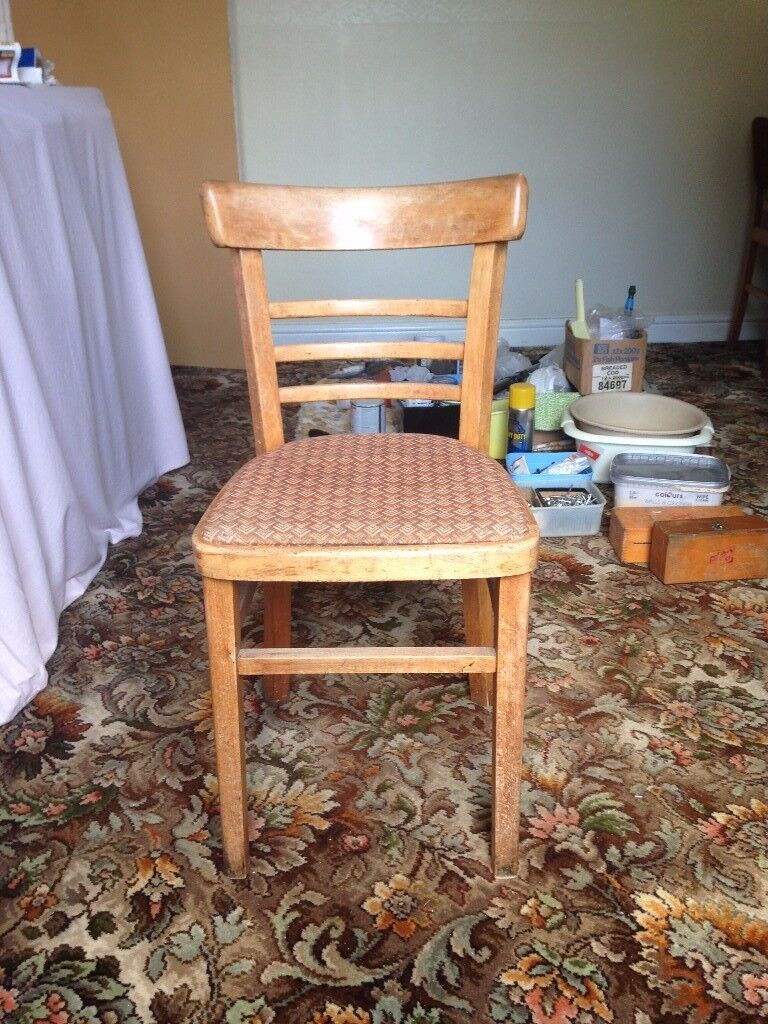 Vintage Style Wooden Chairin Hinckley, LeicestershireGumtree - Vintage Style wooden chair. Good condition, sturdy frame. Width 40cm, Depth 43cm, Height 80cm. Collection only. £10 or reasonable offers