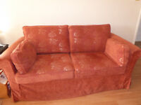 Sofa bed by Martin Barnett, extremely solid piece of furniture with Plumbs loose covers