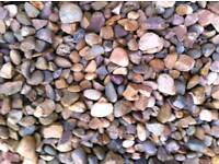 10MM GARDEN GRAVEL/PEA GRAVEL/MULTICOLOURED GARDEN PEBBLES/1-10 TONNES/VERY NICE GRAVEL/doncaster
