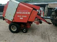 Welger rp200 round baler hay net and string