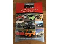 Ultimate choice for driving gift experience valid until December 2017