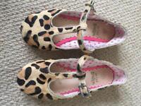 Mini Boden leopard print shoes - size 28