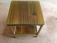 Small square table with shelf
