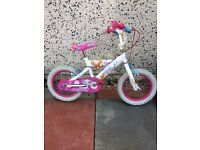 14inch pedal pets girls bike