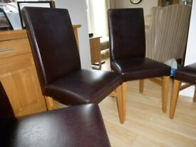 Dining Chairs (4) _Mark Franklin_New England Collection _Brown Faux Leather