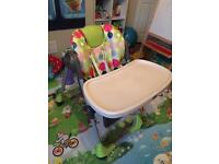 Chicco Polly 2 In 1 Adjustable Height Highchair