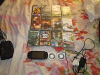 SONY PSP 1000 BUNDLE 10 GAMES,2 FILMS