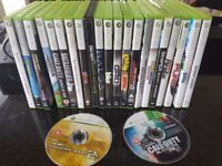 xbox 360 with 2 controllers 1 wireless a kinect sensor and 23 good games