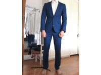 Amazing Royal Blue Kenneth Cole Suit 38l