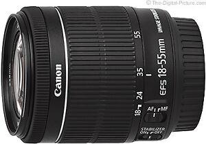 Lentille Zoom Canon EF-S 18-55mm F3.5-5.6 IS STM